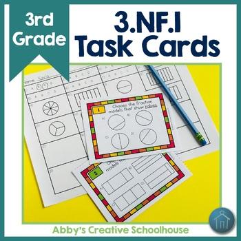 3.NF.1 Task Cards Understanding Fractions with Fraction Models