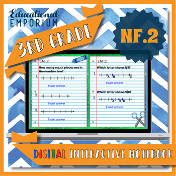 3.NF.2 Interactive Notebook: Fractions on Number Lines ⭐ Digital
