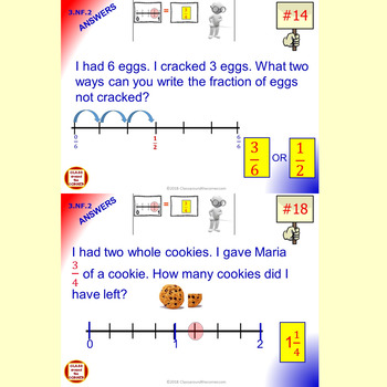 3.NF.2 Math Interactive 3rd Grade Test Prep: Number Line Fractions in 3 Formats