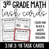 3.NF.3 3rd Grade Math Task Cards (Equivalent Fractions and Comparing Fractions)