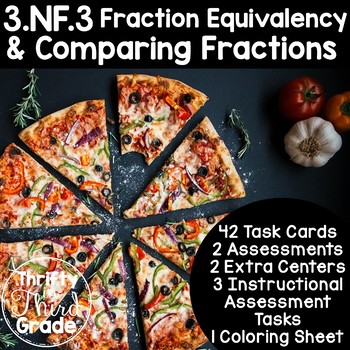 3.NF.3 -Task Cards, Assessments, Centers and More