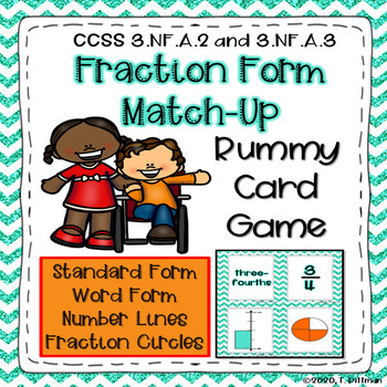 3.NF.A.2 3.NF.A.3 Math Fraction Game Rummy Fraction Match