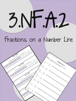 3.NF.A.2 - Fractions on Number Lines - Third Grade