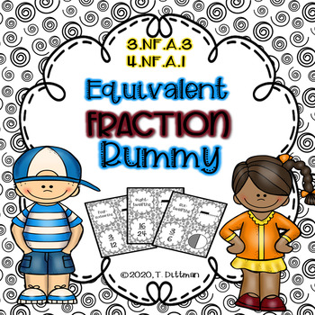 3.NF.A.3 4.NF.A.1 Equivalent Fraction Rummy Math Game