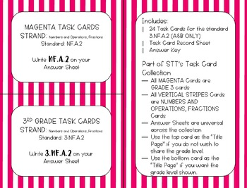 3.NF.A.3.A & 3.NF.A.3.B Equivalent Fractions Task Cards