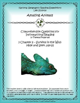 3 NGRE Amazing Animals - Ch. 2, Survival in the Wild, Hide and Seek, p14-21
