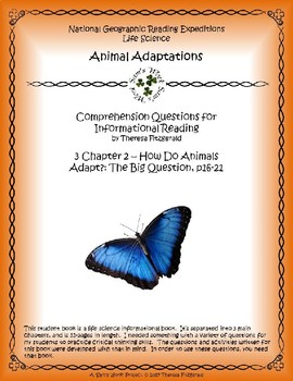 3 NGRE Animal Adaptations - The Big Question, p16-21