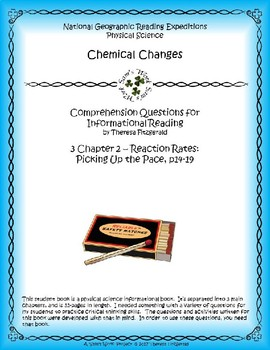 3 NGRE Chemical Changes - Ch. 2, Reaction Rates, Picking Up the Pace, p14-19
