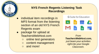 3 NYS French Regents Listening Recordings (MP3)