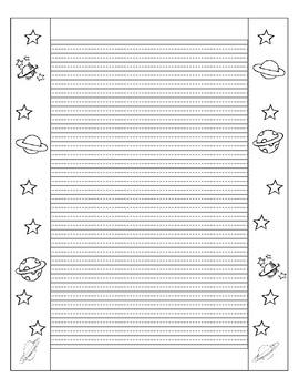 3 Narrative Writing Prompts WITH Printable Stationary