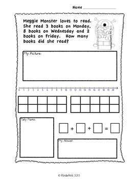 3 Number Addition Word Problems- Aligned to the Common Core Standards