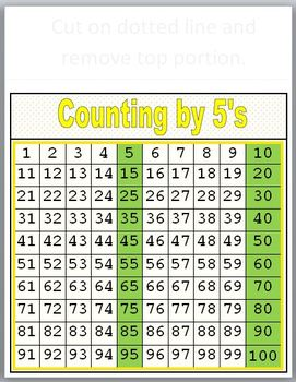 3 Number Charts! Counting by 2's, 5's and 10's!
