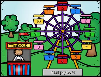 3.OA.1  Ferris Wheel Multiplication Fact Centers