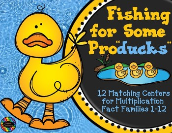 3.OA.1  Fishing For Some Producks Multiplication Fact Centers
