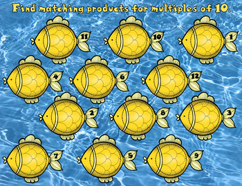 3.OA.1  Fishy Facts Multiplication Math Center