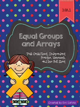 3.OA.1 Multiplication Arrays Task Cards and Practice