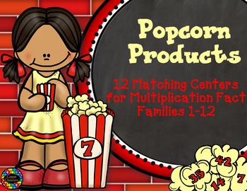 3.OA.1 Popcorn Multiplication Facts Math Centers