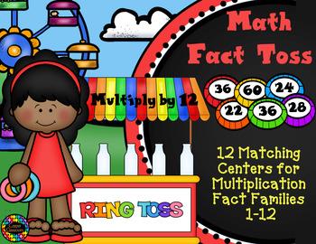 3.OA.1 Ring Toss Multiplication Facts Math Center
