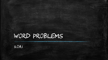 3.OA.1 Word Problems