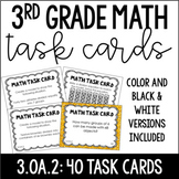 3.OA.2 3rd Grade Math Task Cards (Division)