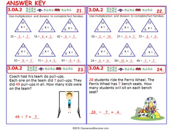 3.OA.2 Math 3rd Grade NO PREP Task Cards—Divide Quotients into Shares or Objects