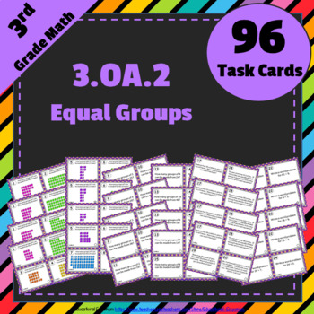 3.OA.2 Task Cards: Equal Groups Division Task Cards 3.OA.2: Division as Grouping
