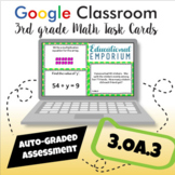 ⭐ SELF-GRADED ⭐ 3.OA.3 Task Cards ⭐ Multiply & Divide within 100 Word Problems