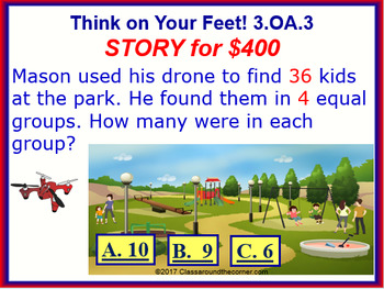 3.OA.3 THINK ON YOUR FEET MATH! Interactive Test Prep Game— x & ÷ within 100