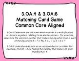 3.OA.4 & 3.OA.6 Matching Card Game
