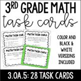 3.OA.5 3rd Grade Math Task Cards (Properties of Multiplication)