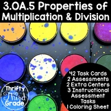 3.OA.5 -Task Cards, Assessments, Centers and More