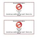 3.OA.5 Properties of Multiplication Error Analysis Task Cards