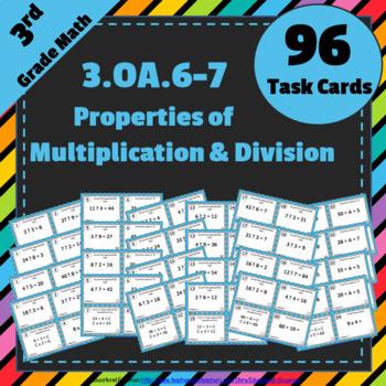 3.OA.6 & 3.OA.7 Task Cards 3OA6 & 3OA7: Properties of Mult