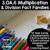 3.OA.6 -Task Cards, Assessments, Centers and More