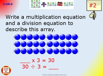 3.OA.6 Grade 3 Math Interactive Test Prep– Division as an Unknown Factor-Problem
