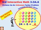 3.OA.6 Grade 3 Math Interactive Test Prep– Division as an