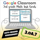 ⭐ GOOGLE CLASSROOM ⭐ 3.OA.7 Task Cards ⭐ Fluently Multiply and Divide within 100