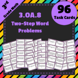 3.OA.8 Task Cards ⭐ Two-Step Word Problems, Equations & Estimation Centers