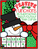 3.OA.9 Christmas Subtraction Function Tables Input Output Task Cards