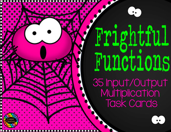 3.OA.9 Halloween Function Tables Input Output Multiplication Task Cards