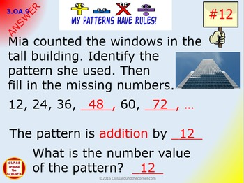 3.OA.9 Grade 3 Math Interactive Test Prep– PATTERNS, EVEN AND ODD