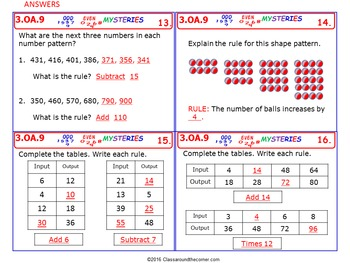 3.OA.9 Math 3rd Grade NO PREP Task Cards—PROPERTY OF OPERATIONS FOR PATTERNS