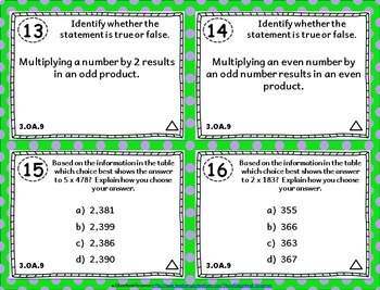 3.OA.9 Task Cards: Arithmetic Patterns Task Cards 3.OA.9: Patterns of Addition