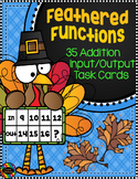3.OA.9 Thanksgiving Addition Function Tables Input Output Task Cards