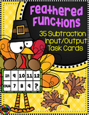 3.OA.9 Thanksgiving Subtraction Function Tables Input Output Task Cards