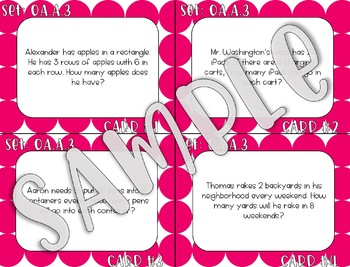 3.OA.A.3 Multiplication Division Word Problems Task Cards