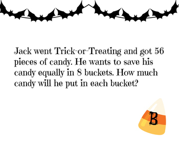 3.OA.A.3 Multiplication and Division Halloween Scavenger Hunt