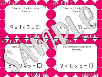 3.OA.B.5 Associative Property Task Cards