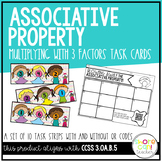3.OA.B.5 - Blowing Away the Associative Property! Task Cards with/out QR Codes