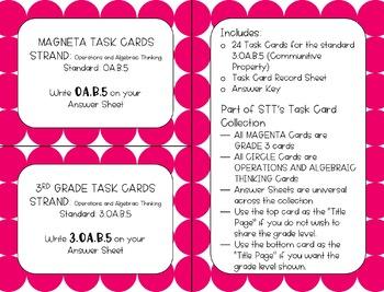 3.OA.B.5 Communitive Property Task Cards
